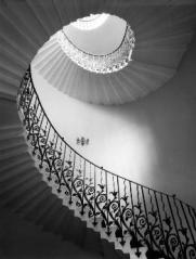Escalier à visse par Inigo Jones, photo d'E. Smith, RIBA Library