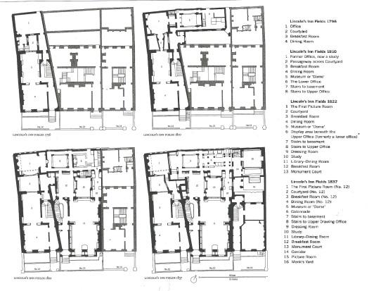 Plan John Soane's House