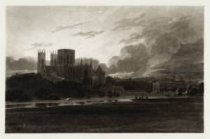 York Minster on the River Foss, engraved by T. Lupton published 1824 by Thomas Girtin 1775-1802