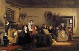 2 - Sir-David-Wilkie - la lecture du testament - 1820