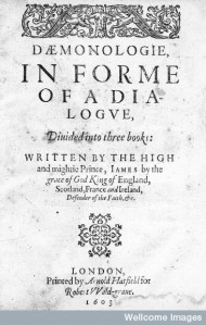 M0014280 James I: Daemonologie, in forme of a dialogue. Title page.