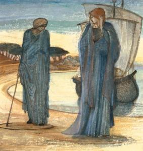 The Magic Circle c.1882 by Sir Edward Coley Burne-Jones, Bt 1833-1898
