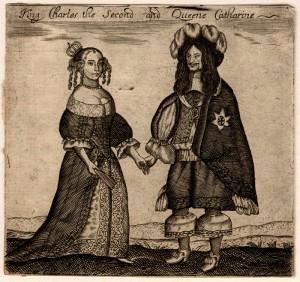NPG D11128; Catherine of Braganza; King Charles II by Unknown artist