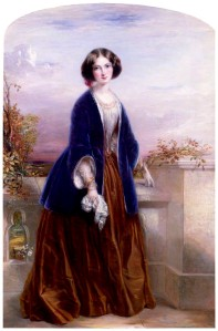 by Thomas Richmond, oil on board, arched top, 1851