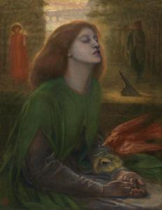 Beata Beatrix c.1864-70 Dante Gabriel Rossetti 1828-1882 Presented by Georgiana, Baroness Mount-Temple in memory of her husband, Francis, Baron Mount-Temple 1889 http://www.tate.org.uk/art/work/N01279