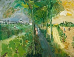 La Route de Ste Livrade 1932 Anthony Gross 1905-1984 Presented by the artist 1981 http://www.tate.org.uk/art/work/T03328